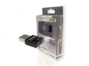 Addon NWU285 11N 300Mbps Wireless USB Nano Adapter - Mini Dongle